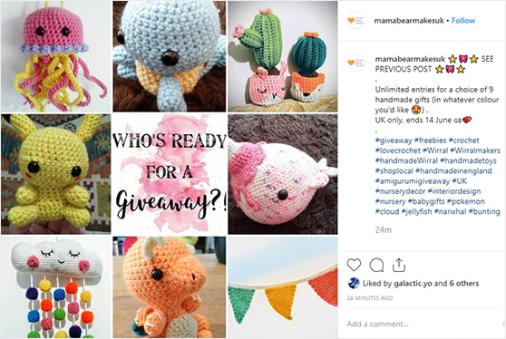 how to promote a giveaway on instagram