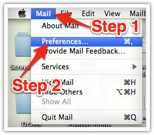 Apple Mac Mail Step 1