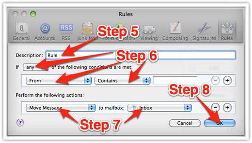 Apple Mac Mail Step 3