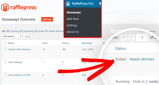 rafflepress wordpress