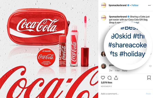 Coca Cola share a coke hashtag campaign