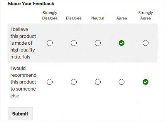 likert scale example