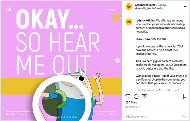 Carousel instagram post