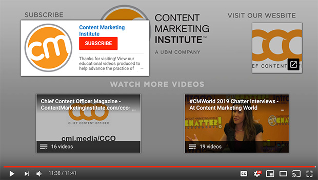 content marketing institute subscribe overlay