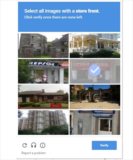 Image captcha example