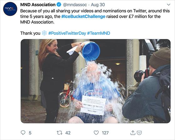 Ice Bucket Challenge Tweet