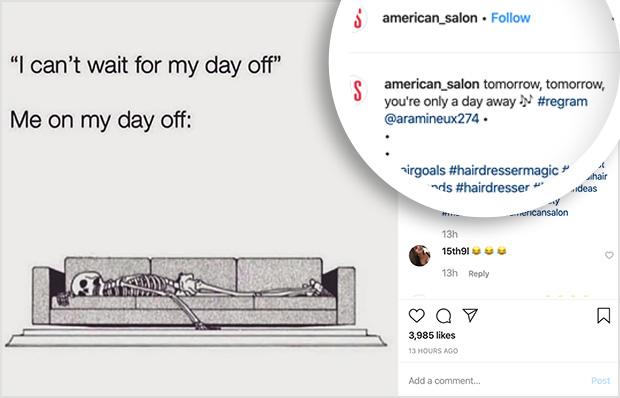 repost great Instagram content