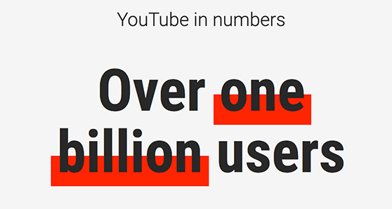 YouTube in numbers: over one billion users