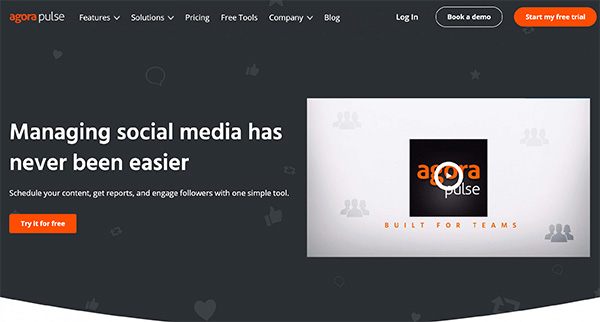 Agora Pulse Social Media Marketing tool