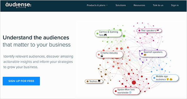 Audiense is a social media marketing tool that helps you understand your audience