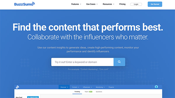 BuzzSumo social media marketing and discovery platform