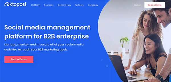 Oktopost social media management platform for B2B