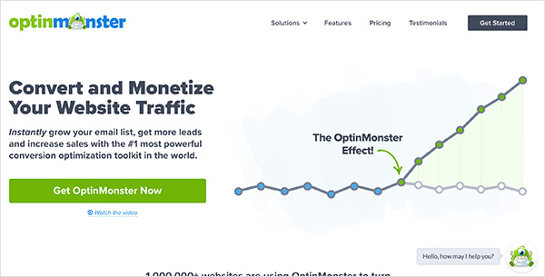 OptinMonster social media marketing tool for lead generation