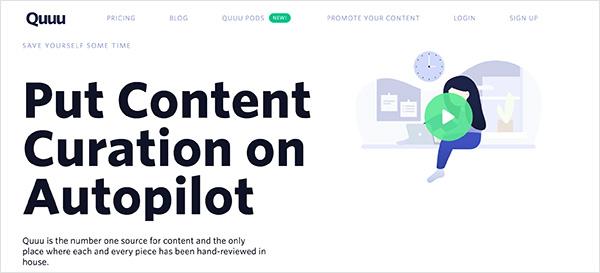 quuu content curation