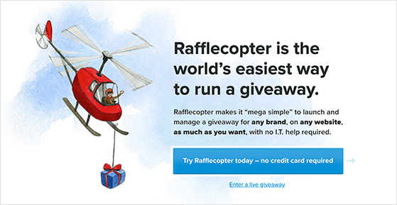 Rafflecopter giveaway tool doesn't include a rafflecopter WordPress plugin