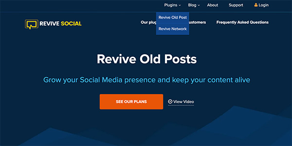 Revive Old Posts social media marketing tool