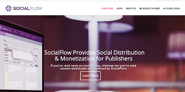 SocialFlow social media distribution and monetization