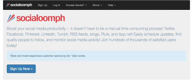 Social Oomph social media management tool