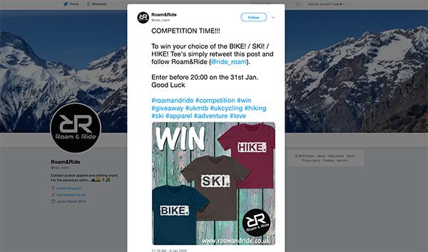 Win a free product contest idea