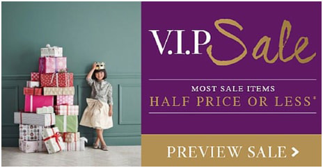 Gated sales VIP are great ecommerce promotion ideas