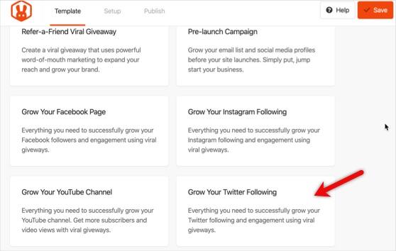 grow your twitter following rafflepress emplate