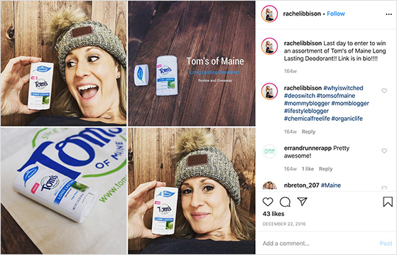 Product promotions from influencers