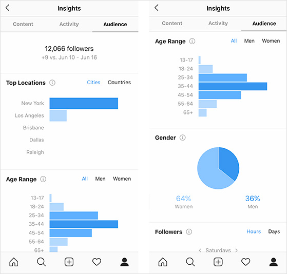 Instagram insights and analytics