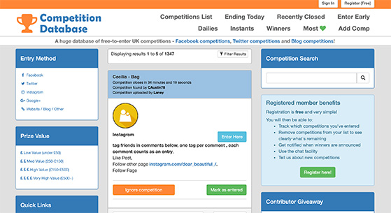 UK Competition Database
