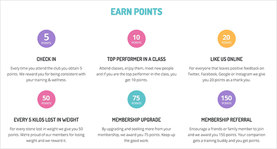 Gym rewards program