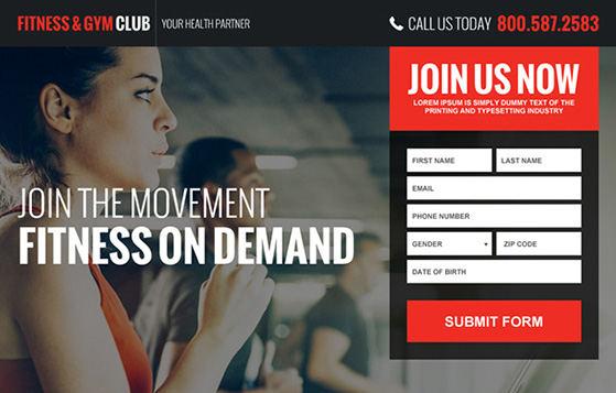 User-friendly gym website