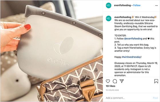 instagram hashtag contest example