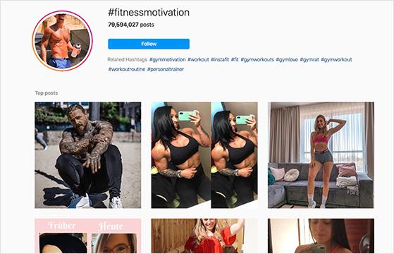 instagram fitness hashtags