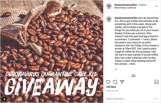 Newsjacking instagram giveaway examples