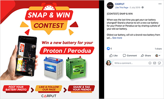 snap a product photo to win