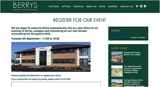 Optimize event registration page