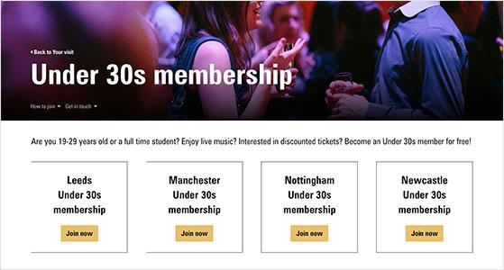 event membership discounts