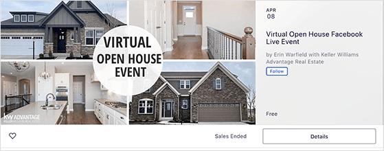 Facebook open house event