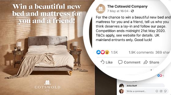 treat a friend facebook contest