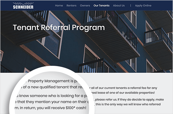 tenant referral program
