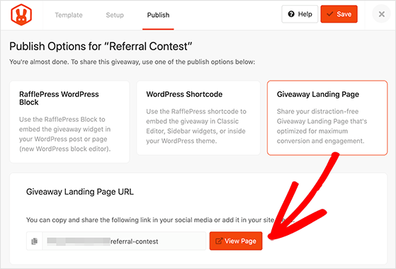 Preview your referral contest