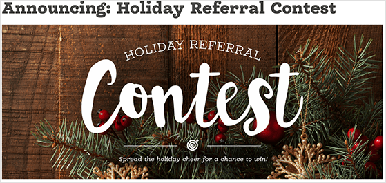 Referral contest announcement blog post