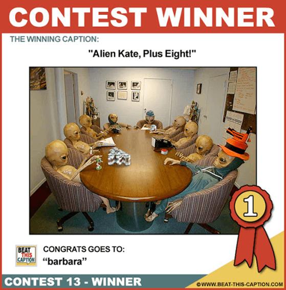 Photo caption contest example