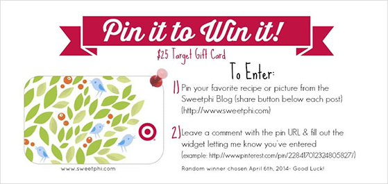 Pin to win contest example