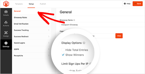 Show your giveaway winners in the RafflePress widget