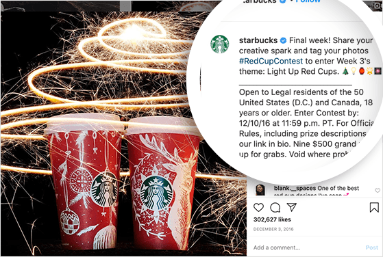 Starbucks red cup UGC campaign