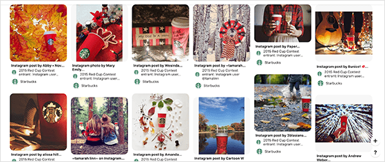 Starbucks Red Cup UGC Pinterest contest