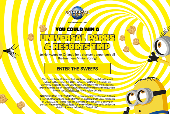 Universal parks and resorts trip sweepstakes