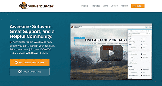Beaver builder is a top landing page tool for WordPress