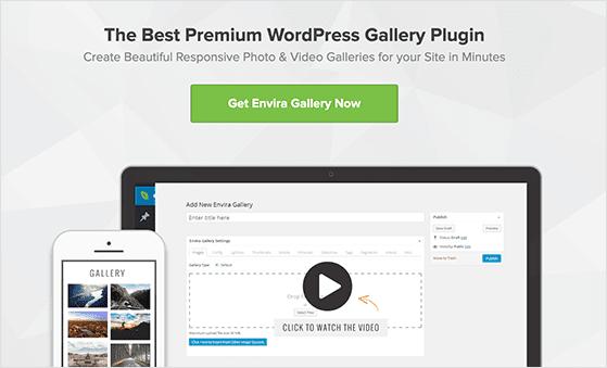 Envira Gallery is the best WordPress gallery plugin