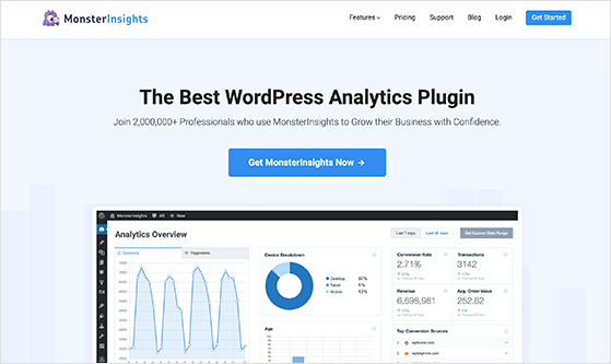 MonsterInsights is the best google analytics plugin for WordPress